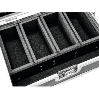 ROADINGER Flightcase 4x AKKU Flat Light Series #4