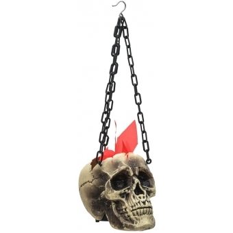 EUROPALMS Halloween Flaming Skull, 45x21x15cm