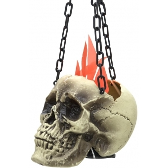 EUROPALMS Halloween Flaming Skull, 45x21x15cm #2