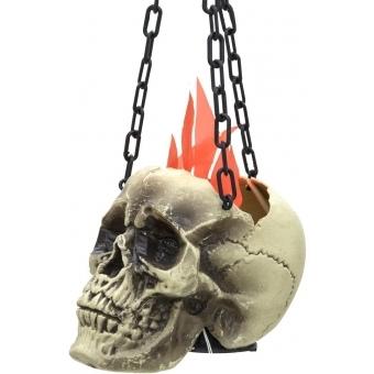 EUROPALMS Halloween Flaming Skull, 45x21x15cm #2