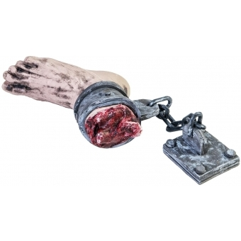EUROPALMS Halloween Foot with chain, 25x10x17cm #2
