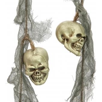 EUROPALMS Plastic Skull Garland, 100x6x6cm #2