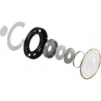 Pioneer HDJ-X7-S Professional over-ear DJ headphones (silver) + CADOU U9960 ULTIMATE HEADPHONE BAG #9