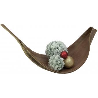 EUROPALMS Pine ball, flocked, 15cm #2