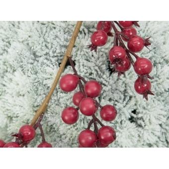 EUROPALMS Pine ball, flocked, 15cm #3