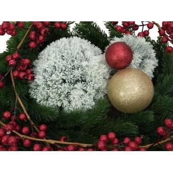 EUROPALMS Pine ball, flocked, 30cm #4