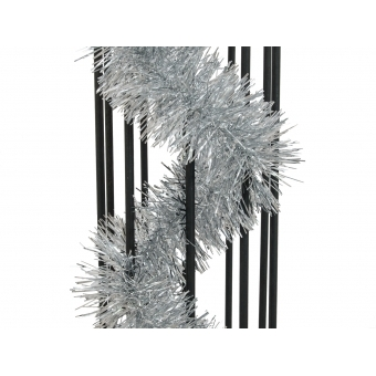 EUROPALMS Tinsel metallic, silver, 7,5x200cm #2