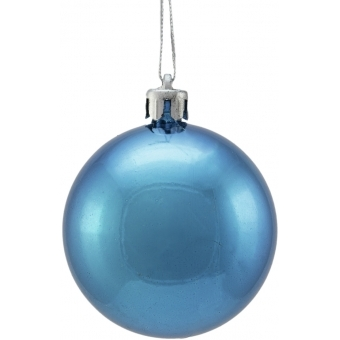 EUROPALMS Deco Ball 6cm, blue, metallic 6x