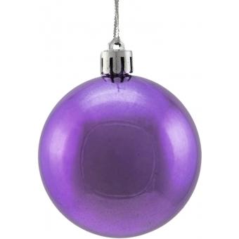 EUROPALMS Deco Ball 6cm, purple, metallic 6x