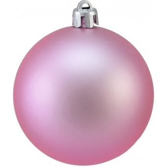 EUROPALMS Deco Ball 7cm, pink, matt 6x