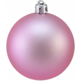 EUROPALMS Deco Ball 7cm, pink, matt 6x