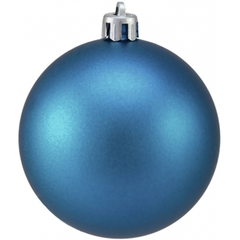 EUROPALMS Deco Ball 7cm, blue, matt 6x