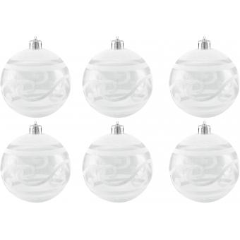 EUROPALMS Deco Ball 7cm, clear, diverse designs 6x #2