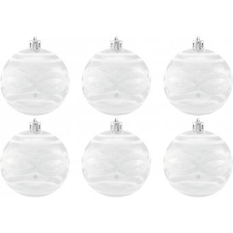 EUROPALMS Deco Ball 7cm, clear, diverse designs 6x #3