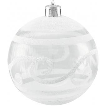 EUROPALMS Deco Ball 7cm, clear, diverse designs 6x #6