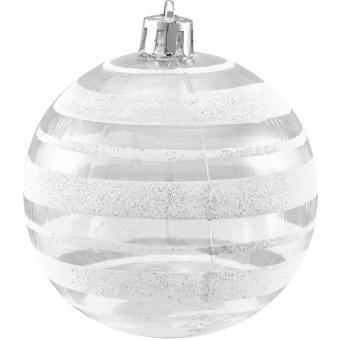 EUROPALMS Deco Ball 7cm, clear, diverse designs 6x #7