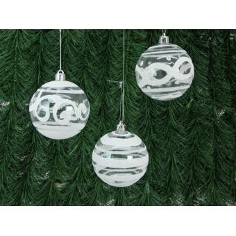 EUROPALMS Deco Ball 7cm, clear, diverse designs 6x #8