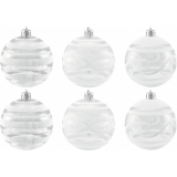 EUROPALMS Deco Ball 7cm, clear, diverse designs 6x