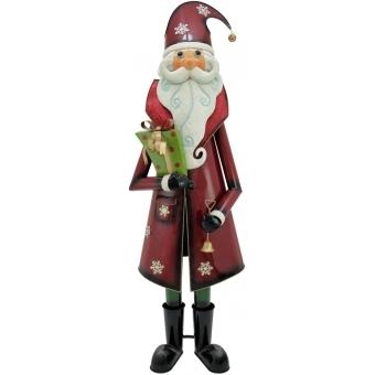 EUROPALMS Santa Claus, Metal, 195cm, red