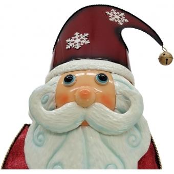 EUROPALMS Santa Claus, Metal, 195cm, red #3