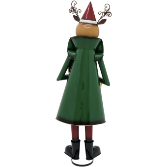 EUROPALMS Reindeer with Coat, Metal, 155cm, green #2