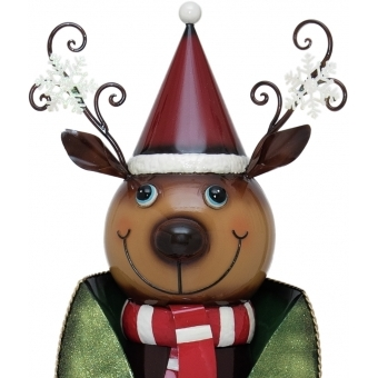 EUROPALMS Reindeer with Coat, Metal, 155cm, green #3