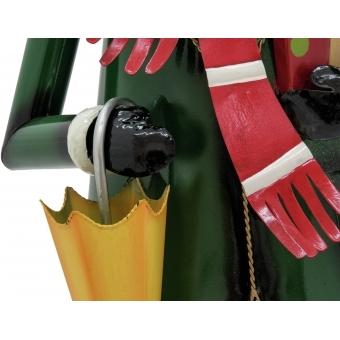EUROPALMS Reindeer with Coat, Metal, 155cm, green #4