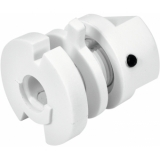 EUTRAC Retaining collar for multi adapter, white