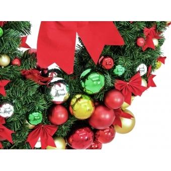 EUROPALMS Premium Fir Wreath, decorated, 90cm #2
