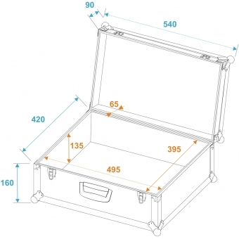 ROADINGER Universal Case Tour Pro 54x42x25cm black #5