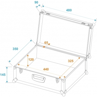 ROADINGER Universal Case Tour Pro 48x35x24cm black #5