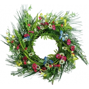 EUROPALMS Wild Flower Wreath 65cm