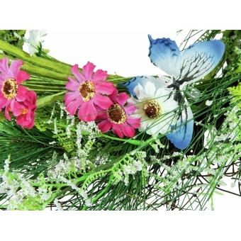 EUROPALMS Wild Flower Wreath 65cm #3