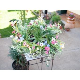 EUROPALMS Wild Flower Wreath 65cm #5