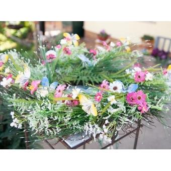 EUROPALMS Wild Flower Wreath 65cm #6