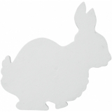 EUROPALMS Silhouette Bunny, white, 56cm