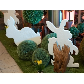 EUROPALMS Silhouette Easter Rabbit, white, 60cm #4