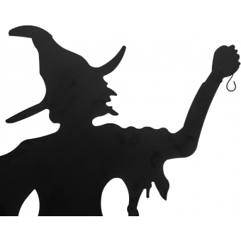 EUROPALMS Silhouette Metal Witch with Broom, 150cm #2