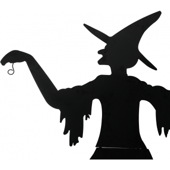 EUROPALMS Slhouette Metal Witch with Broom, 140cm #2