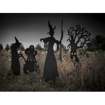 EUROPALMS Silhouette Metal Witch Pot, 83cm #2