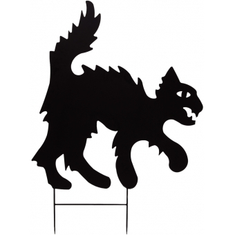 EUROPALMS Silhouette Metal Cat, 53cm