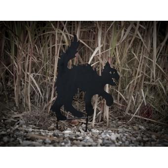 EUROPALMS Silhouette Metal Cat, 53cm #2