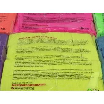 TCM FX Slowfall Confetti rectangular 55x18mm, neon-green, uv act #2
