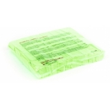 TCM FX Slowfall Confetti rectangular 55x18mm, neon-green, uv act