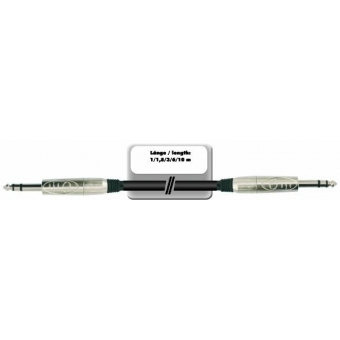 OMNITRONIC Jack cable 6.3 stereo 6m bk ROAD #4