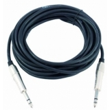 OMNITRONIC Jack cable 6.3 stereo 6m bk ROAD