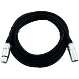 OMNITRONIC XLR cable 3pin 0.5m bk