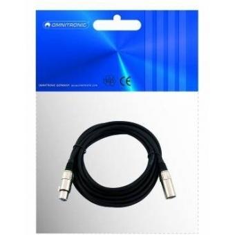 OMNITRONIC XLR cable 3pin 5m bk #2