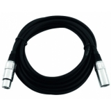 OMNITRONIC XLR cable 3pin 5m bk