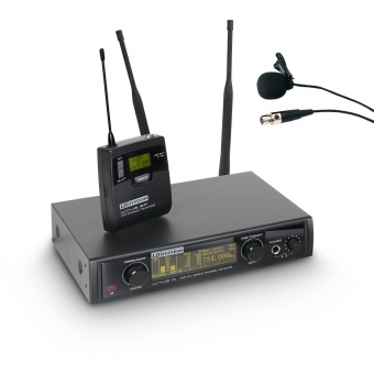 Sistem microfon wireless cu beltpack si lavaliera LD Systems WIN42 BPL